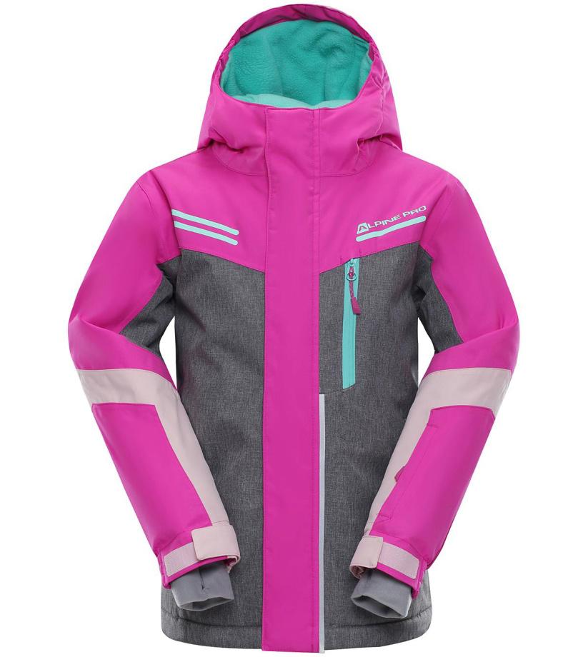 ALPINE PRO SARDARO Dětská lyžařská bunda KJCM122411 fuchsiová 164-170