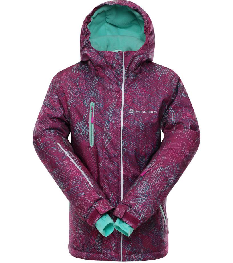 ALPINE PRO AGOSTO 2 Dětská lyžařská bunda KJCM123814 ostružinová
