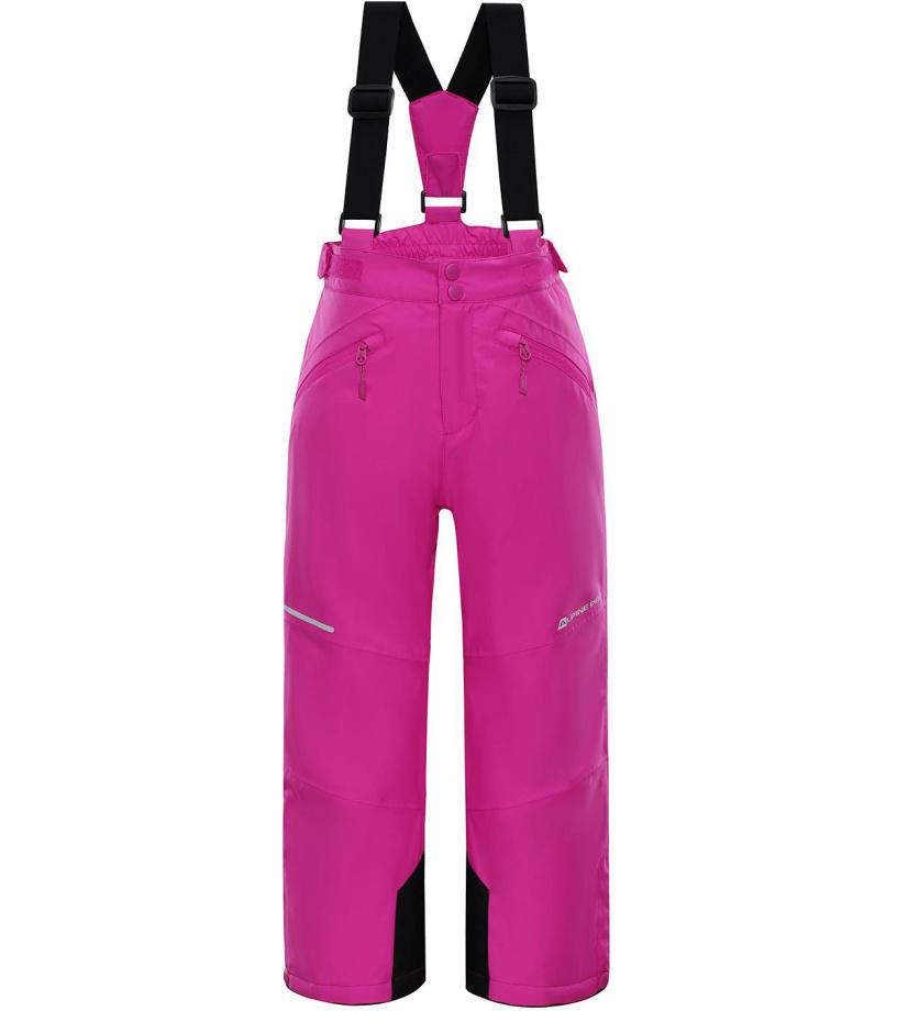 ALPINE PRO ANIKO 2 Dětské lyžařské kalhoty KPAM122411 fuchsiová 152-158