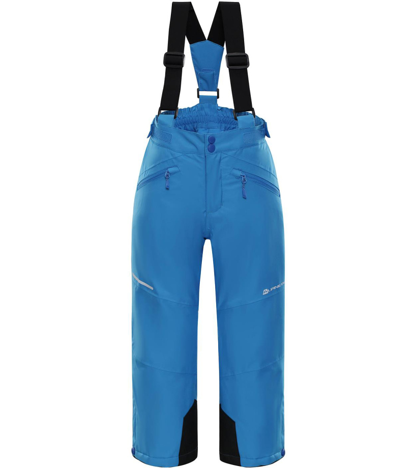 ALPINE PRO ANIKO 2 Dětské lyžařské kalhoty KPAM122674 Blue aster 128-134