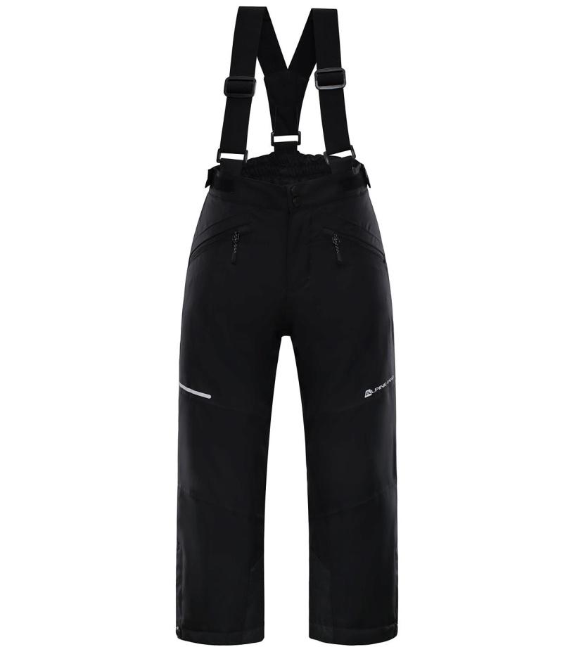 ALPINE PRO ANIKO 2 Dětské lyžařské kalhoty KPAM122990 černá 128-134