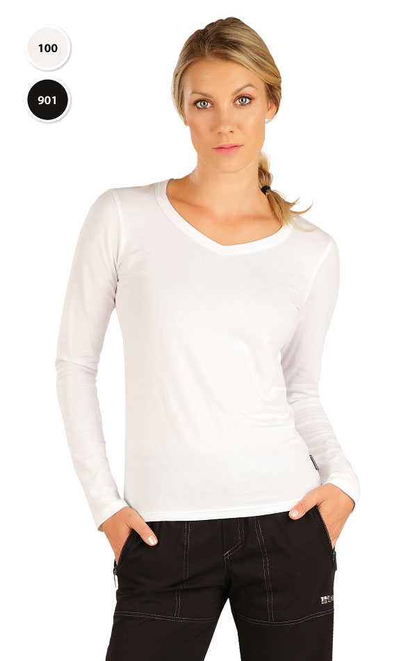 LITEX 9D052 Tričko dámské s dlouhým rukávem Bílá S