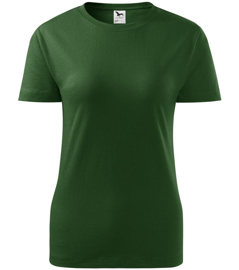 ADLER Classic New Dámské triko 13306 lahvově zelená M