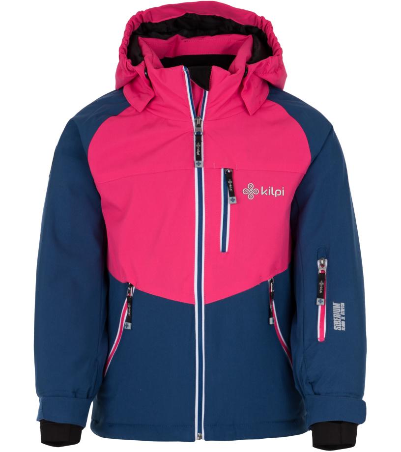 KILPI Dívčí lyžařská bunda MONTANA-JG HJ0101KIDBL Tmavě modrá 110