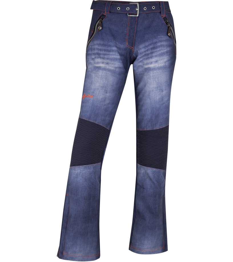 KILPI Dámské lyžařské softshellové kalhoty JEANSO-W HL0023KIBLU Modrá