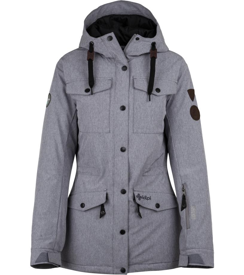 KILPI Dámská lyžařská bunda GEISA-W HL0059KIDGY Tmavě šedá