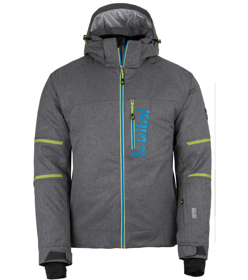 KILPI Pánská lyžařská bunda URAN-M HM0075KIDGY Tmavě šedá