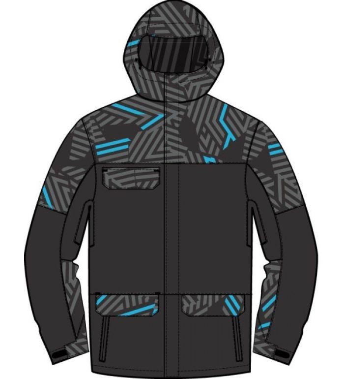 ALPINE PRO Paytan Pánská bunda 20056991 černá - světlejší XXL