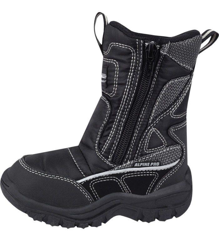ALPINE PRO SNOWPARK KIDS Dětská zimní obuv KBTB011990 černá 25