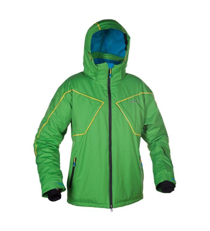 ENVY TOVAL Lyžařská bunda ZM0605ENGRN Zelená potisk M