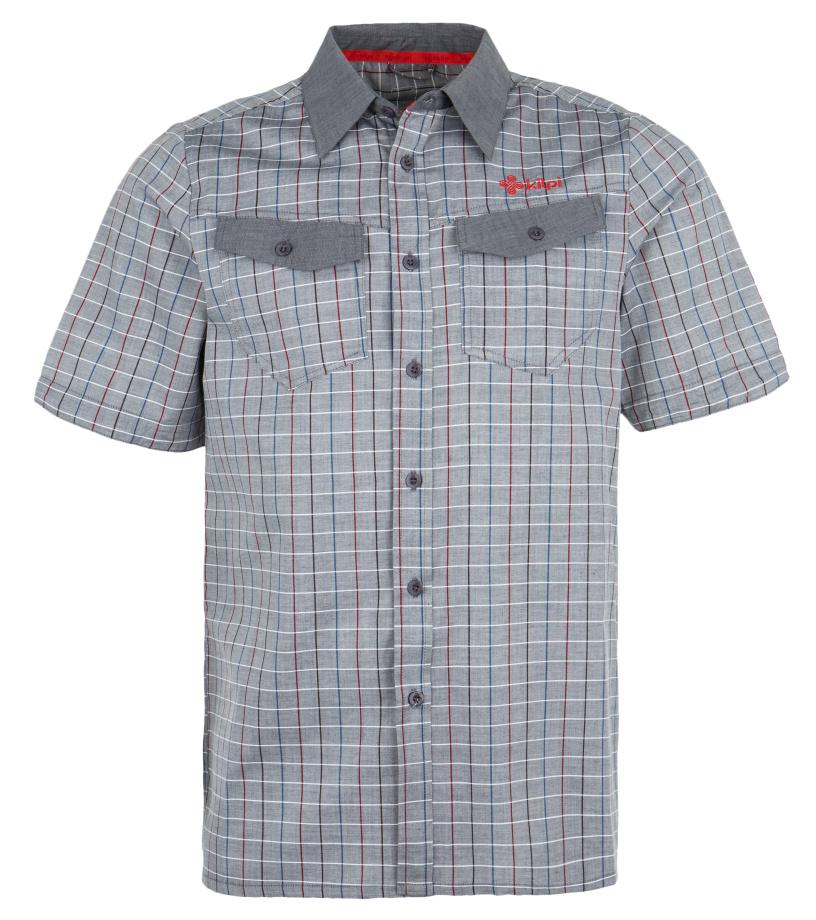 KILPI Pánská sportovní košile TUMBUTU EM0157KIBLK Černá S