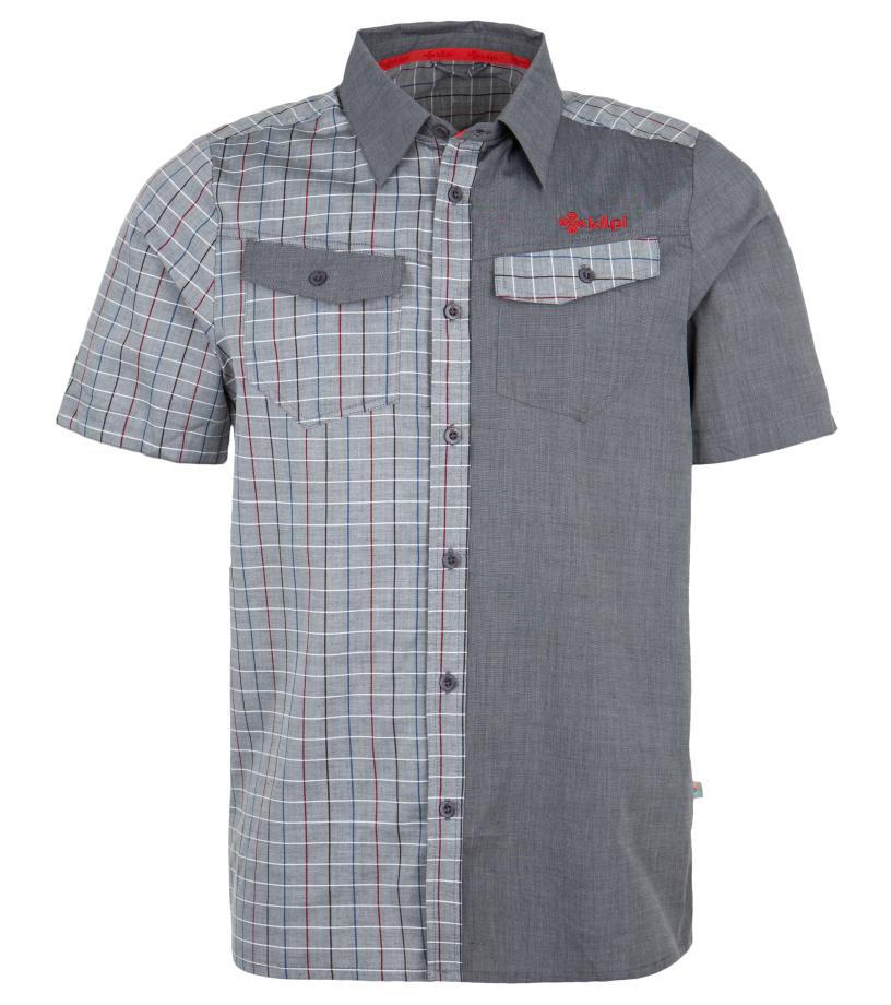 KILPI Pánská sportovní košile TUMBUTU EM0157KIDGY Tmavě šedá M