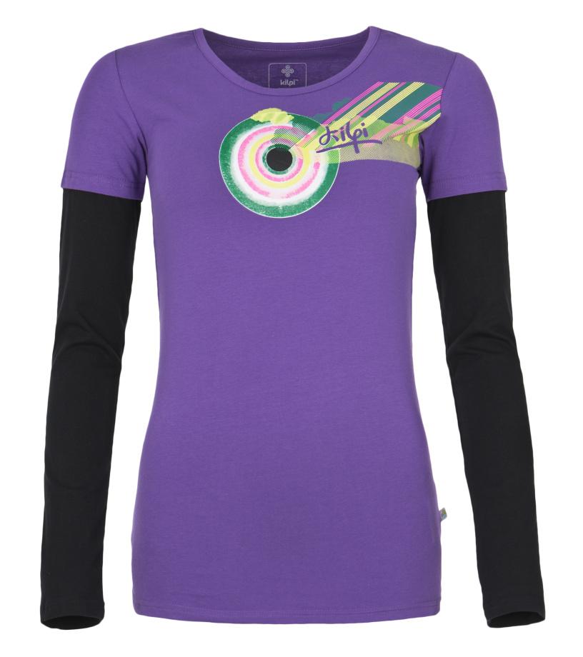 KILPI Dámské triko s dlouhým rukávem PETRA DL0115KIVLT Fialová 40
