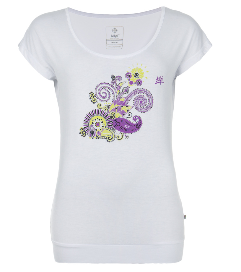 KILPI Dámské triko LINDA DL0123KIWHT Bílá 34