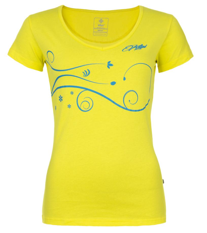 KILPI Dámské triko MONCAYO-W EL0150KIYEL Žlutá 34