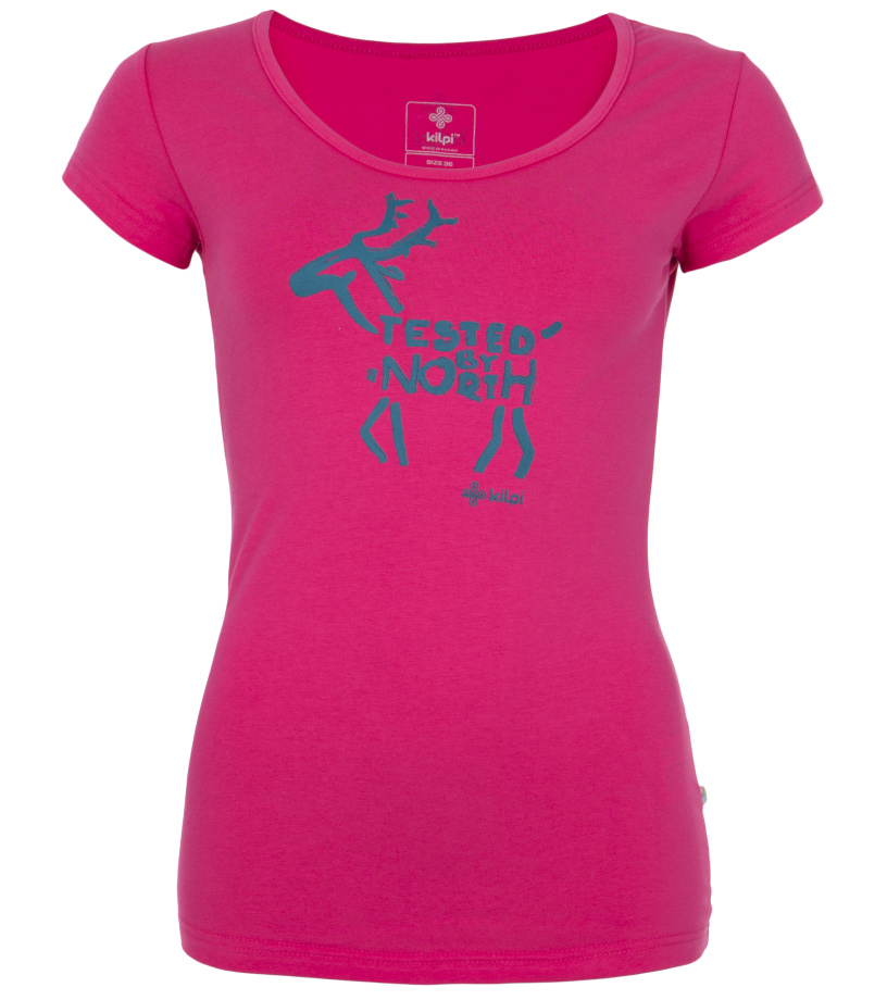 KILPI Dámské triko PURACE-W EL0154KIPNK Růžová 44