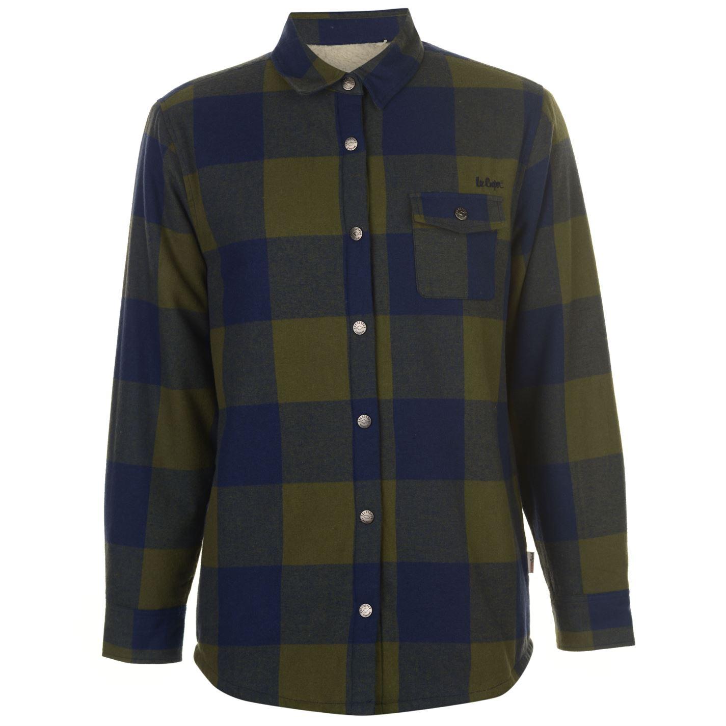 Lee Cooper Lined Flannel Pánská košile 55058526 SD_Large