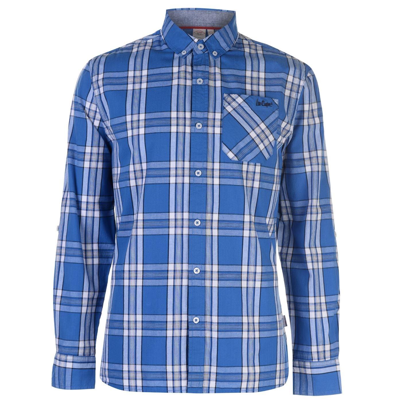 Lee Cooper Long Sleeve Check Pánská košile 55842791 SD_Large