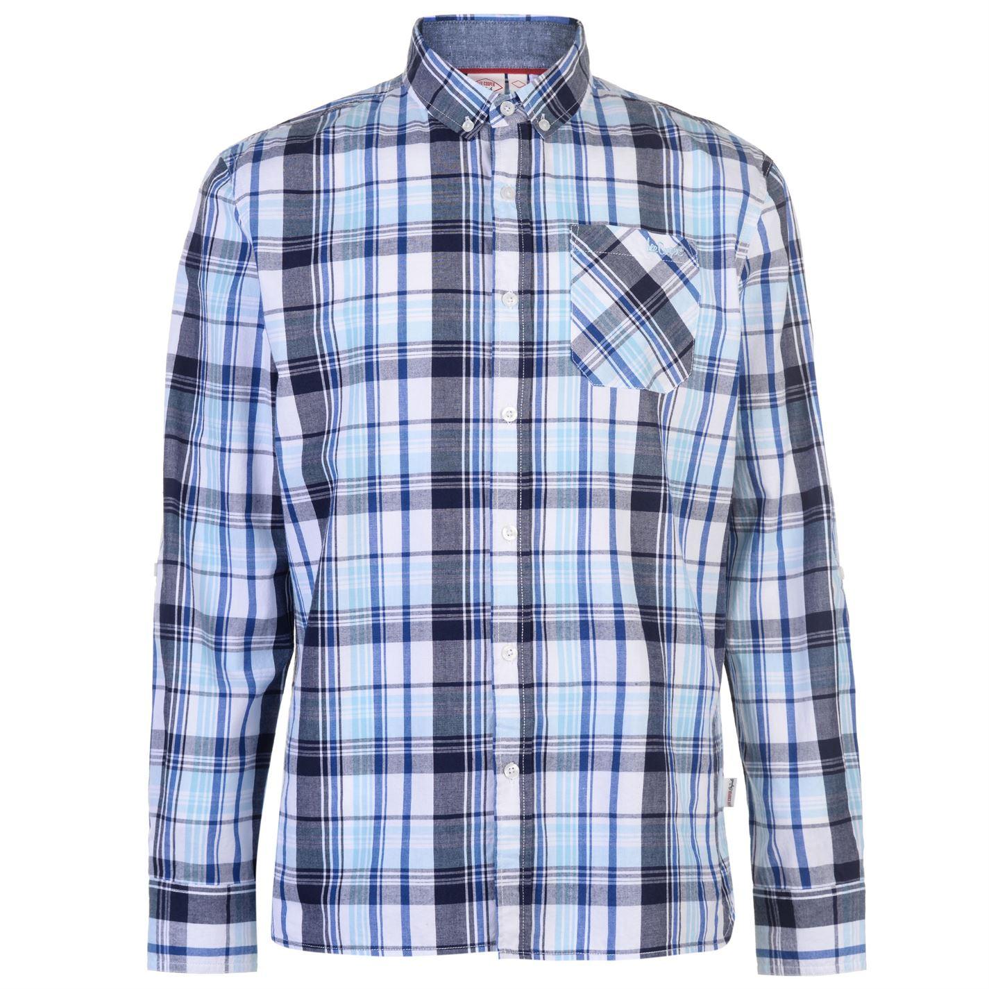 Lee Cooper Long Sleeve Check Pánská košile 55842793 SD_Large