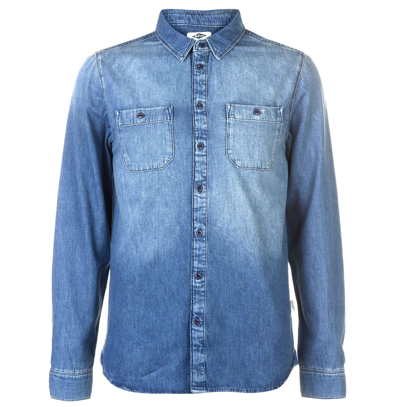 Lee Cooper Chambray Pánská košile 64456097 SD_Medium