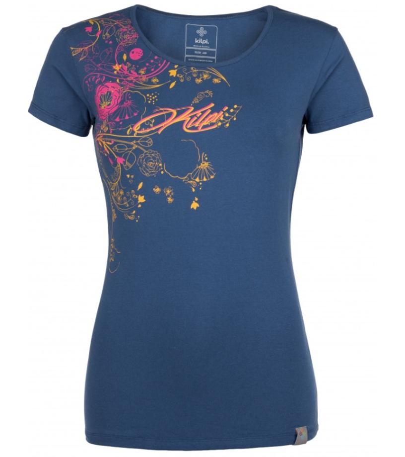 KILPI Dámské triko FLORI-W HL0164KIDBL Tmavě modrá 42