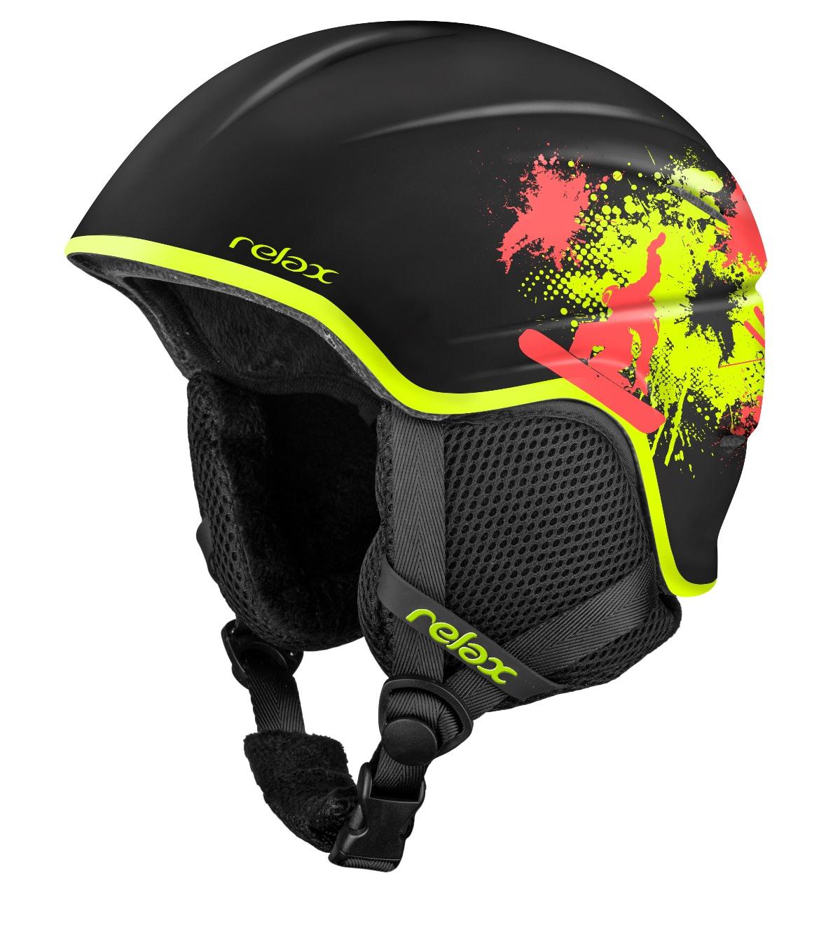 RELAX TWISTER Dětská lyžařská helma RH18A5 černá S