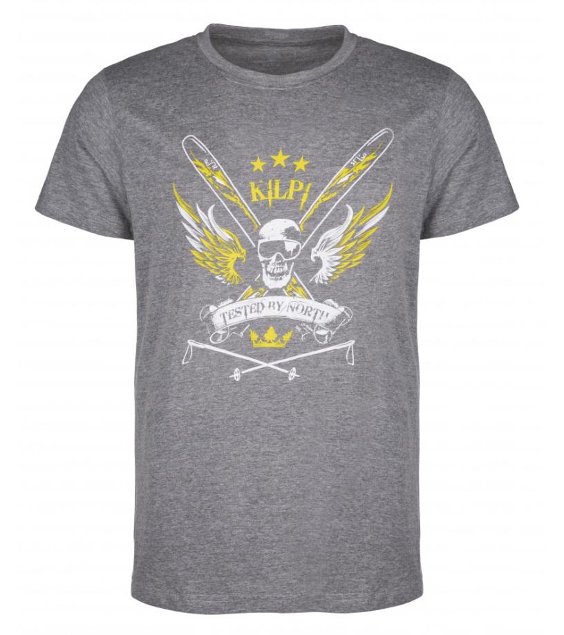 KILPI Pánské triko SKULL-M HM0070KIDGY Tmavě šedá