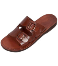 Uni kožené šľapky DAREIOS Faraon-Sandals