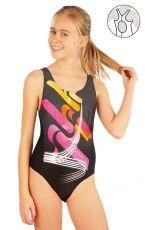 Dievčenské jednodielne športové plavky. 52623 LITEX