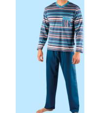 Pánské pyžamo klasické dlouhé 79007P GINA
