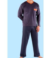 Pánské pyžamo klasické dlouhé 79009P GINA