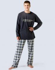 Pánské pyžamo dlouhé 79023-DCMLGB GINA