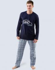 Pánské pyžamo dlouhé 79025-DCMLBM GINA