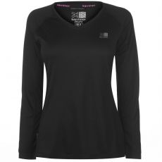 Dámske bezecké tričko Long Sleeve Running T Shirt Ladies Karrimor