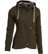 Softshellová bunda Spectacular Ladies´ Softshell Brown WOOX