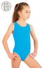 Dievčenské jednodielne športové plavky. 57592 LITEX