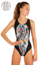 Dievčenské jednodielne športové plavky 57586 LITEX
