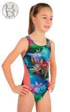 Dievčenské jednodielne športové plavky 57588 LITEX