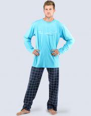 Pánské pyžamo dlouhé 79027-DYMDCM GINA