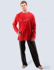 Pánské pyžamo dlouhé 79027-MxEMxC GINA
