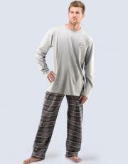Pánské pyžamo dlouhé 79029-MxGMFH GINA