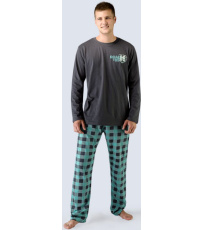 Pánské dlouhé pyžamo 79021-DxGMYM GINA