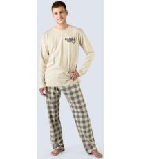 Pánské dlouhé pyžamo 79021-LYBMxG GINA