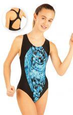 Dívčí jednodílné sportovní plavky. 88506 LITEX