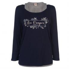 Dámske tričko dlhý rukáv Double Layer Lee Cooper