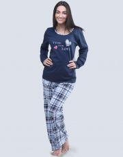 Dámské pyžamo dlouhé 19053-DCMLBM GINA
