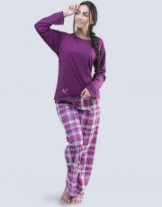 Dámské pyžamo dlouhé 19055-MCFDRF GINA