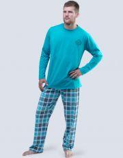 Pánské pyžamo dlouhé 79045-DYMDCM GINA