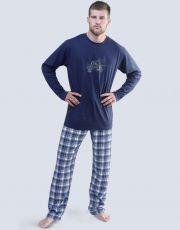 Pánské pyžamo dlouhé 79049-DCMMxG GINA