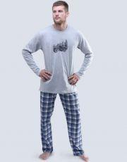 Pánské pyžamo dlouhé 79049-MxGDCM GINA